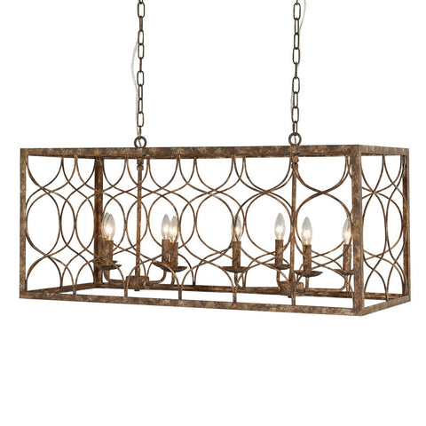 Tabby 8-light Chandelier Ceiling Terracotta Designs