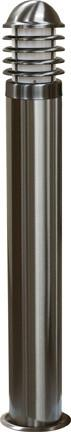 "Marine Grade 24""h Stainless Steel Bollard - Multiple Bulb Options Outdoor Dabmar"