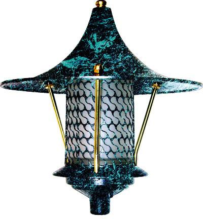 Cast Aluminum Flair Top Pagoda Light