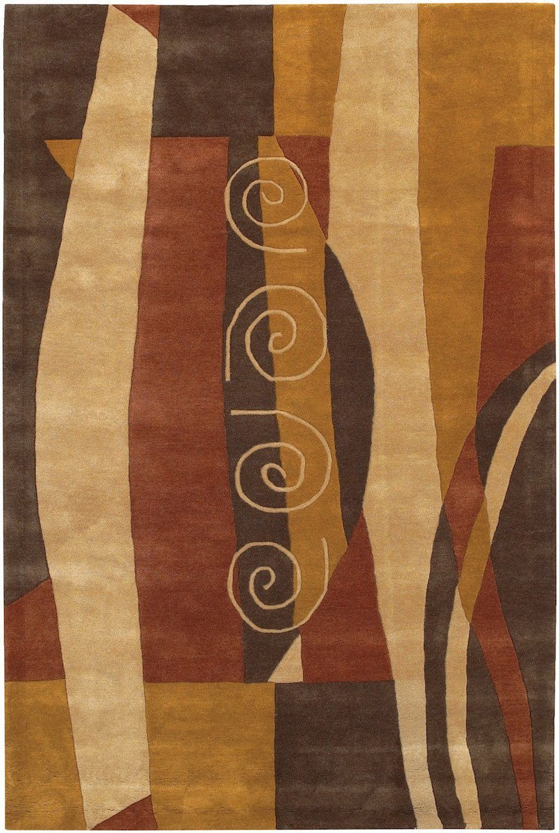 Daisa 27 7'9x10'6 Brown Rug Rugs Chandra Rugs