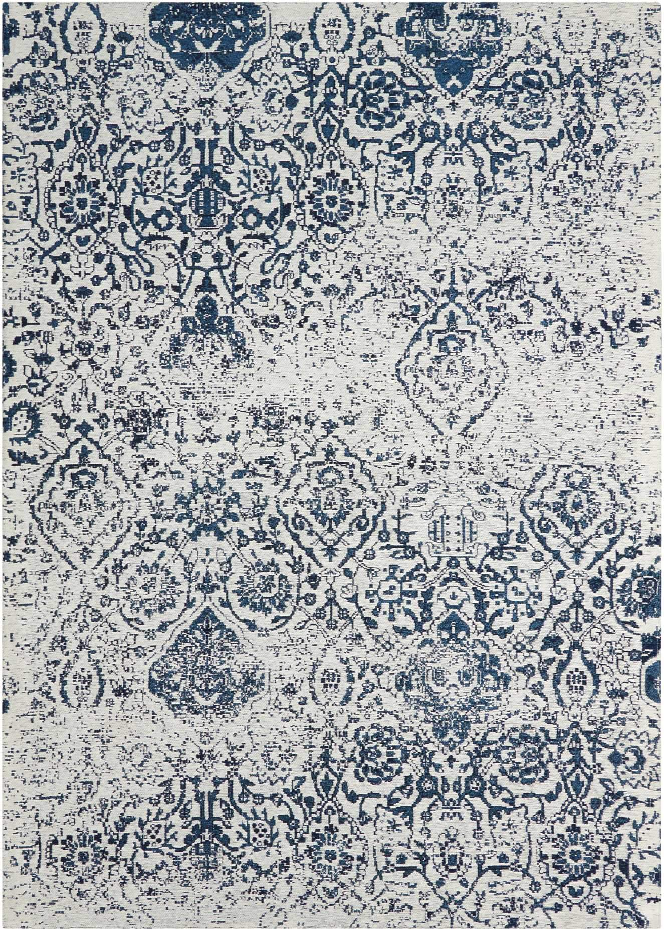 Damask Ivory/Navy Rug - 5 Size Options Rugs Nourison 5' x 7'