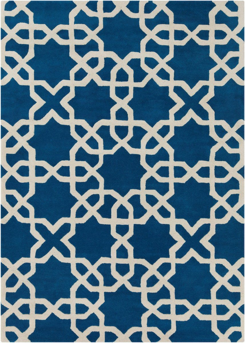 Davin 25804 7'x10' Blue Rug Rugs Chandra Rugs