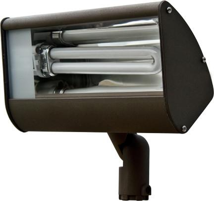 Cast Aluminum Area Flood Light Bronze 120V Outdoor Dabmar