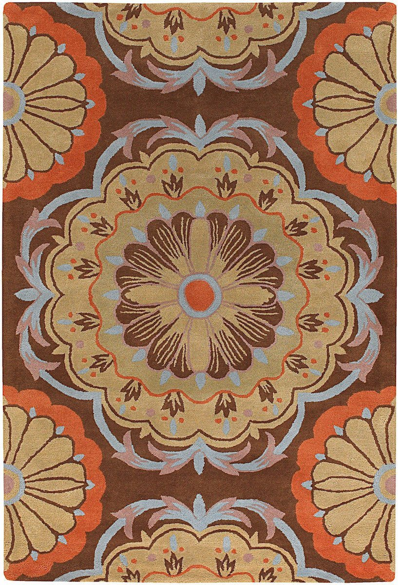 Dharma 7536 7'9 Round Multicolor Rug Rugs Chandra Rugs