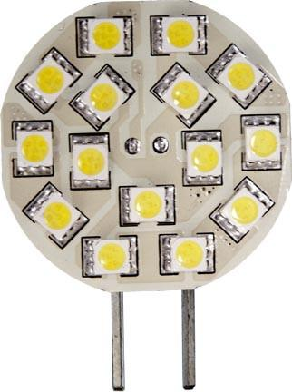 G4 Large Plate 3W LED 12V Bulb - 6400K Daylight White
