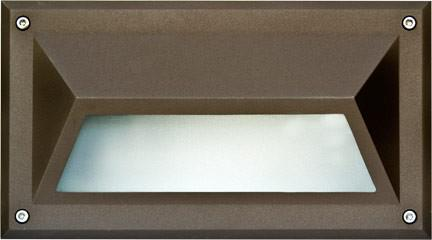 Recessed Hooded Brick/Step/Wall Light Bronze