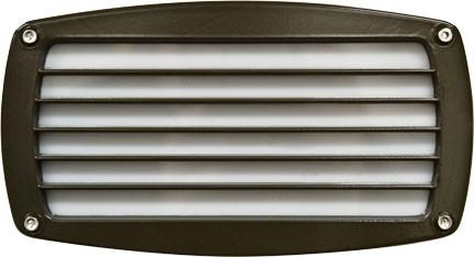 120V Louvered Brick/Step/Wall Light - Bronze - Multiple Bulb Options Outdoor Dabmar 40W T10 Incandescent
