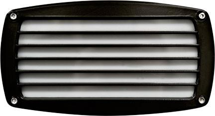 120V Louvered Brick/Step/Wall Light - Black - Multiple Bulb Options Outdoor Dabmar