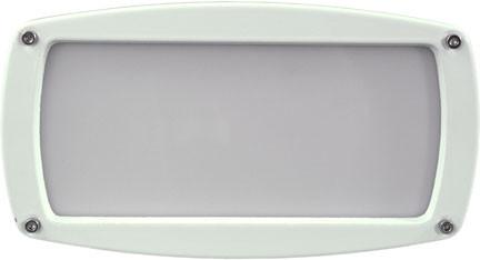 120V Brick/Step/Wall Light - White - Multiple Bulb Options