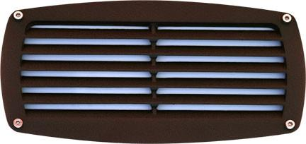 120V Louvered Brick/Step/Wall Light - Bronze - Multiple Bulb Options