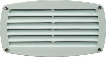 120V Louvered Brick/Step/Wall Light - White - Multiple Bulb Options
