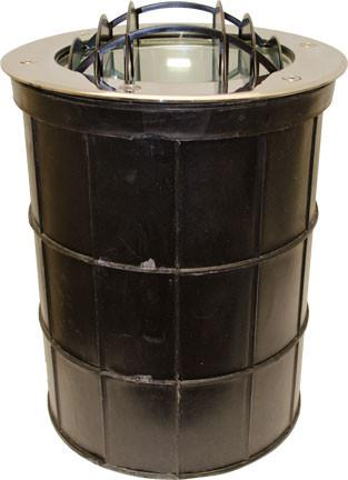 Dabmar Stainless Steel In-Ground Well Light with Grill