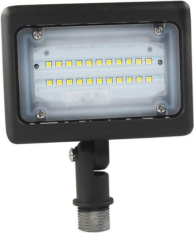 Small Bronze LED Area Light (Flood Light) Threaded Mount Architectural Dazzling Spaces 15W 3000k Warm White