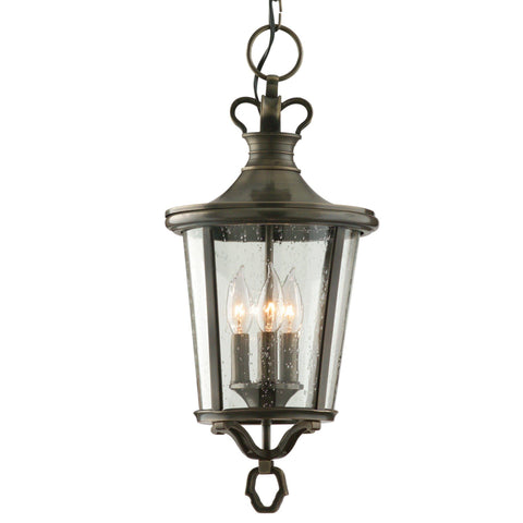 Britannia 3 Light Hanging Lantern - English Bronze Outdoor Troy