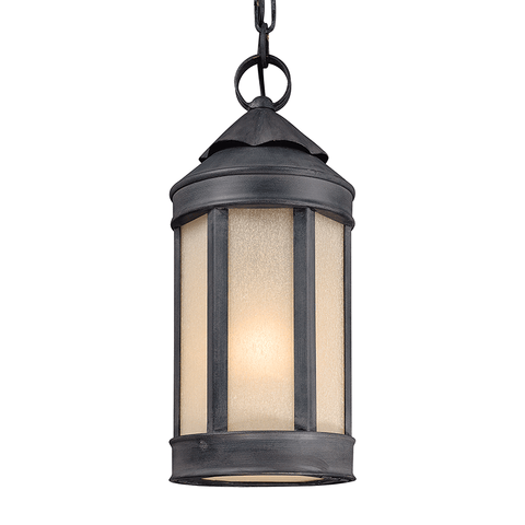 Andersons Forge 1 Light Hanging Lantern Medium - Antique Iron Outdoor Troy