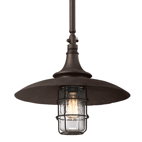Allegheny 1 Light Hanger Large - Centennial Rust Outdoor Troy