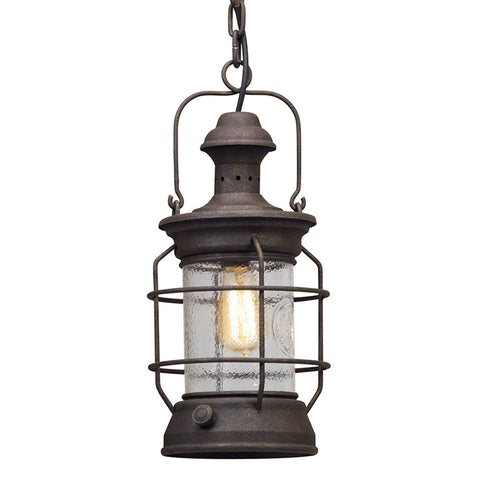 Atkins 1 Light Hanger Lantern Medium - Centennial Rust Outdoor Troy