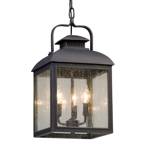 Chamberlain 3 Light Hanger Lantern Medium - Vintage Bronze Outdoor Troy