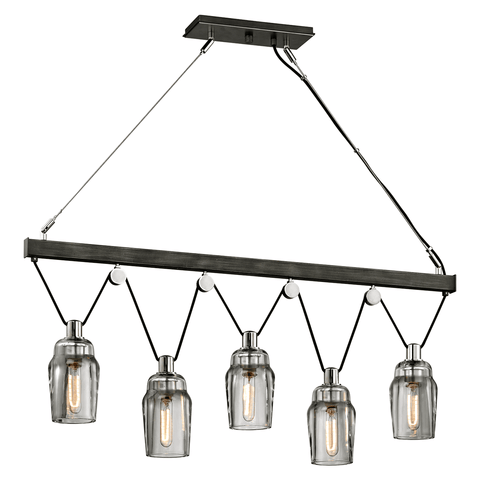 Citizen 5Lt Island - Graphite And Polished Nickel Ceiling Troy