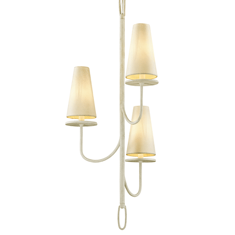 Marcel 3 Light Chandelier - Gesso White