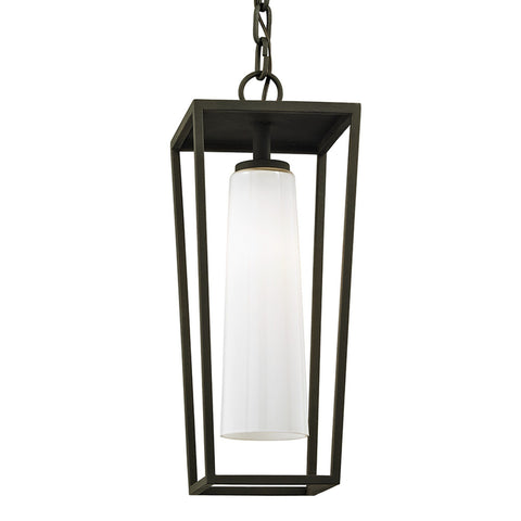 Mission Beach 1 Light Hanger - Textured Black Outdoor Troy