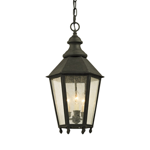 Savannah 3 Light Hanger - Vintage Iron Outdoor Troy