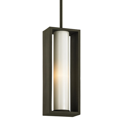 Mondrian 1 Light Hanger - Textured Bronze Outdoor Troy