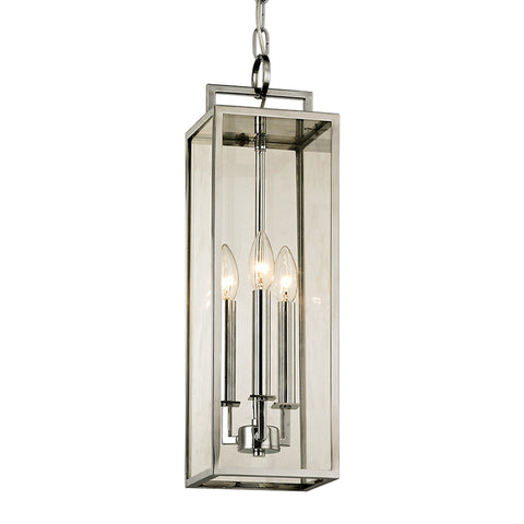 Beckham 3 Light Hanger - Polished Stainless Outdoor Troy