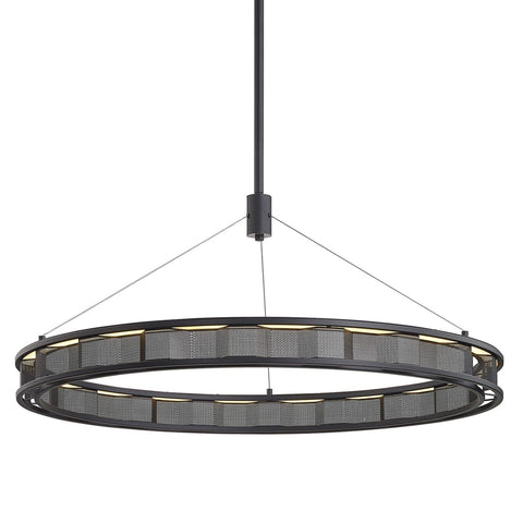 Fuze 1 Light Pendant - Modern Bronze Ceiling Troy