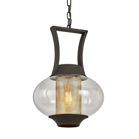 Horton 1 Light Hanger - Texture Bronze Outdoor Troy