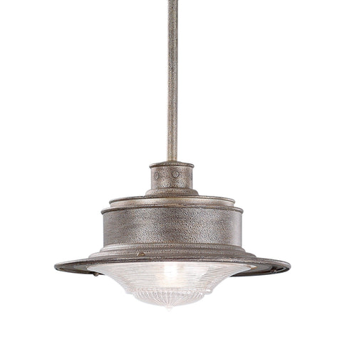South Street 1 Light Hanging Downlight Small Old Galvanized - Old Galvanized Outdoor Troy