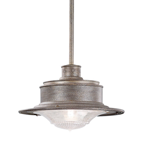 South Street 1 Light Hanging Downlight Medium Old Galvanized - Old Galvanized Outdoor Troy