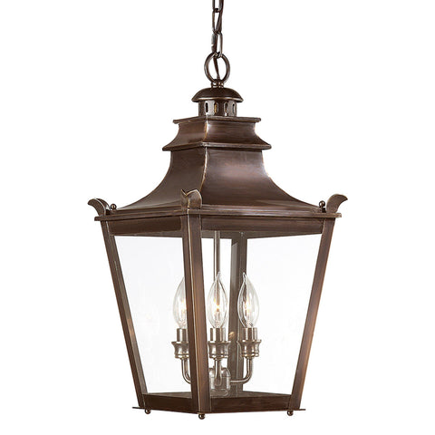 Dorchester 3 Light Hanging Lantern Medium - English Bronze Outdoor Troy