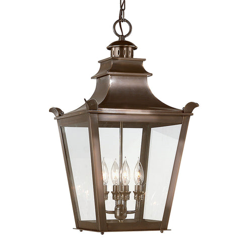 Dorchester 4 Light Hanging Lantern Large - English Bronze Outdoor Troy