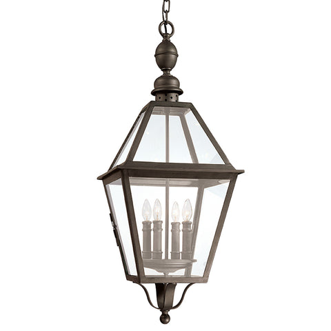 Townsend 4 Light Hanging Lantern Extra Large - Natural Bronze Outdoor Troy