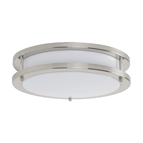 Luminance 10In 16W 3000K LED Round Acry Bsn