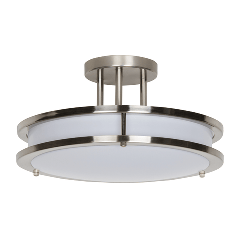 Luminance 14In 26W 3000K LED Semi Flush Acry Bsn
