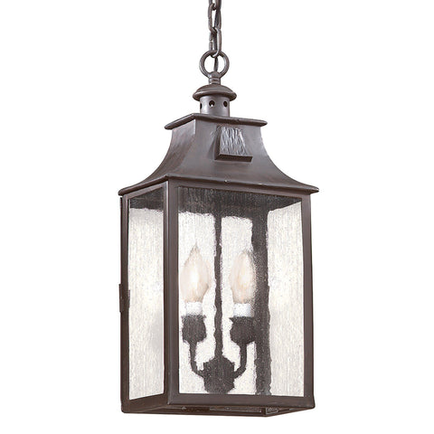Newton 2 Light Hanging Lantern Medium - Old Bronze