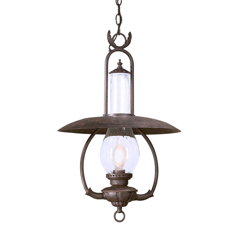 La Grange 1 Light Hanging Lantern Large - Old Bronze Outdoor Troy