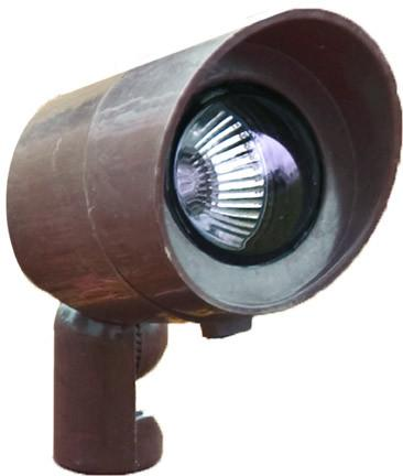 12V Spot Light with Hood - Bronze Outdoor Dabmar 20W Halogen