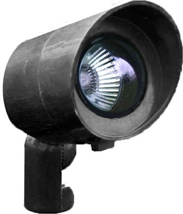 12V Spot Light with Hood - Black