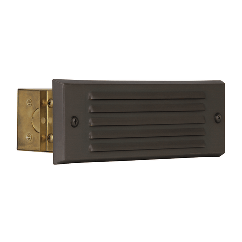 Luminance Double Louver Step Light Integral LED Solid Brass