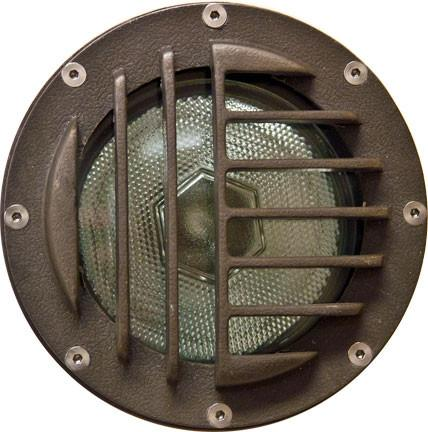 Fiberglass In-Ground Well Light with Convex Grill Outdoor Dabmar
