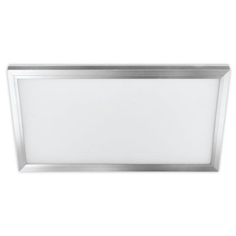 1' X 2' Rectangular Flat Panel Silver Ceiling Light - Color Selectable 3000K/4000K/5000K Ceiling Feit Electric