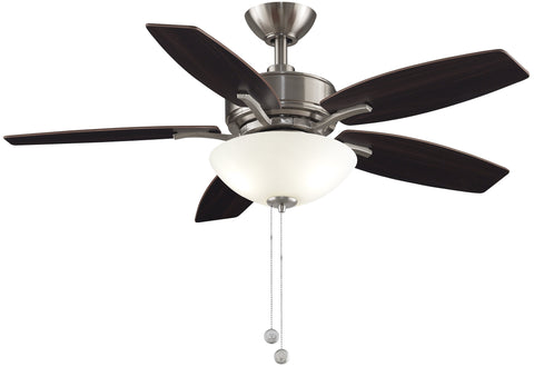 Aire Deluxe - 44 inch Brushed Nickel Ceiling Fan with Light Kit