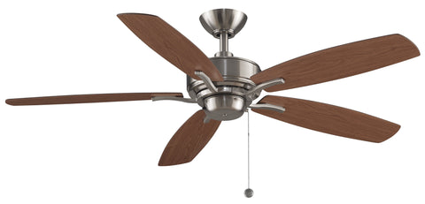 "Aire Deluxe - 52"" Brushed Nickel Ceiling Fan"
