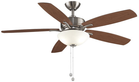 "Aire Deluxe - 52"" Brushed Nickel Ceiling Fan with Light Kit"