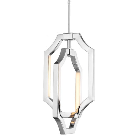 Audrie Polished Nickel 4 - Light Mini Audrie Pendant