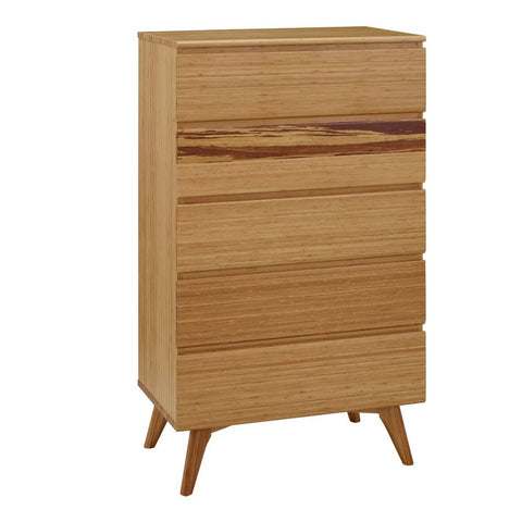 Azara Five Drawer Chest, Caramelized Furniture Greenington