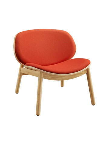Danica Bamboo Lounge Chair - Wheat Finish and Red